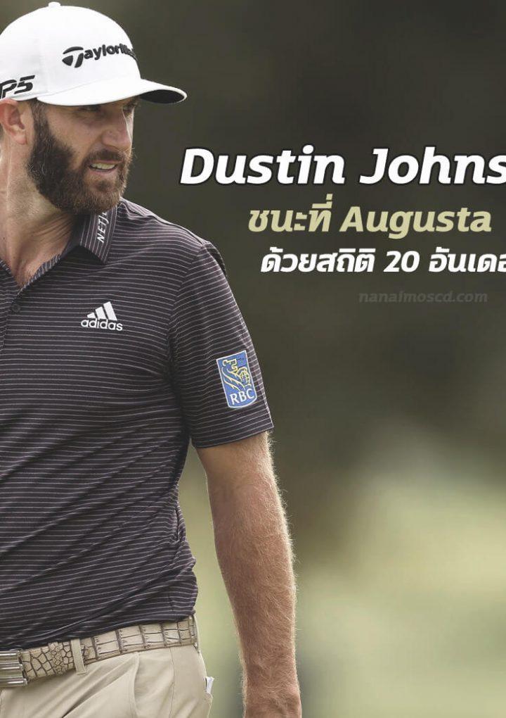 Dustin Johnson's ชนะที่ Augusta ด้วยสถิติ 20 อันเดอร์พาร์